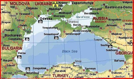 Black Sea by MSN Maps