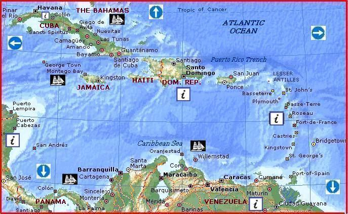 Caribbean Sea by MSN Maps